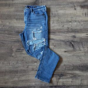 Hollister Distressed High Rise Super Skinny Jeans